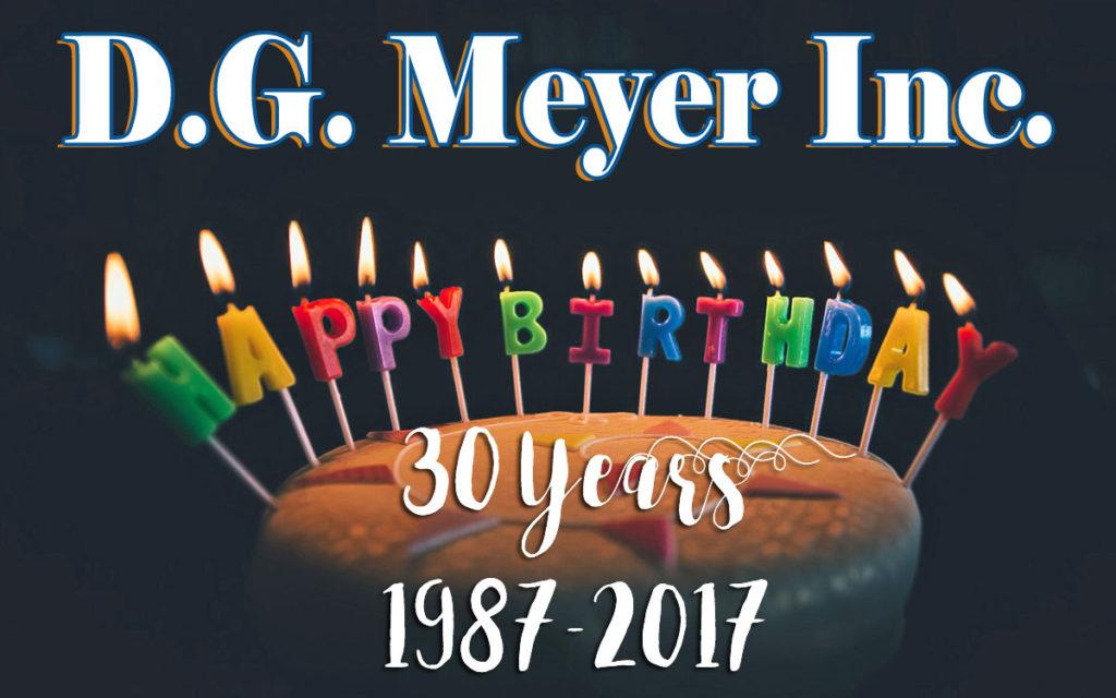 D.G. Meyer Inc. Happy Biirthday
