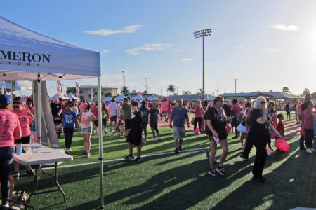 Gathering in Pink For Breast Cancer Awarene